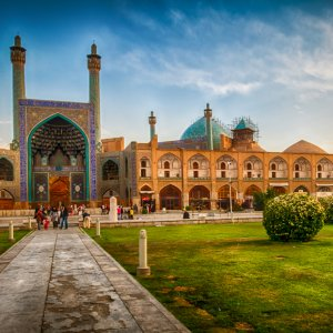 A view of Imam Mosque in Naqsh-e-Jahan Square