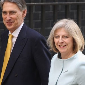 Theresa May (R) and Philip Hammond