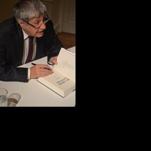 Ivan Klima signing his book  'My Crazy Century'