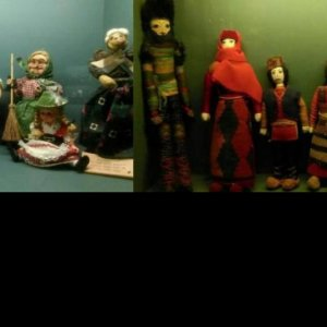 Dolls of various nationalities displayed at the museum.