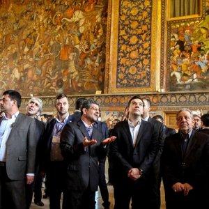 Greek Premier in Iran