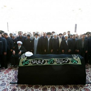 Leader Performs Prayers for Late Cleric