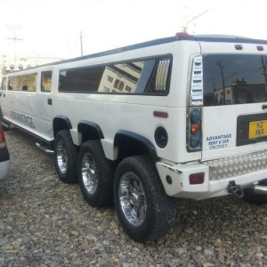 British Hummer Pulled Off Road