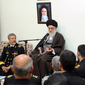 Leader of Islamic Revolution Ayatollah Seyyed Ali Khamenei addresses Navy commanders and officials in Tehran on Nov. 27.