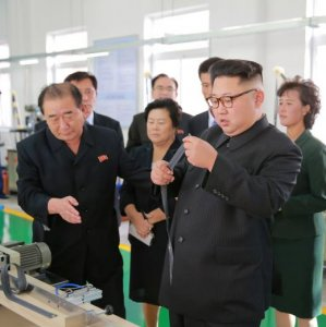 North Korean leader, Kim Jong Un, provides field guidance to the Mangyongdae Revolutionary Site Souvenir Factory in this undated photo released by North Korea's Korean Central News Agency in Pyongyang on Oct. 7. (File Photo)