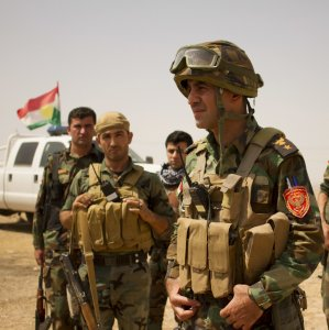 Iraqi Kurdish forces continued to fight IS militants outside Mosul, Iraq, on Nov. 7.