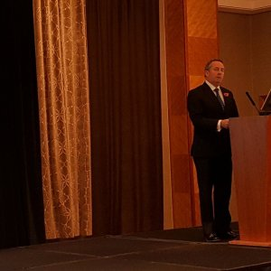 British trade minister Liam Fox addressed the second Iranian trade conference on Wednesday.