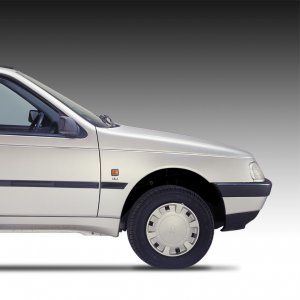 The humble Peugeot 405 has been given a futuristic upgrade.