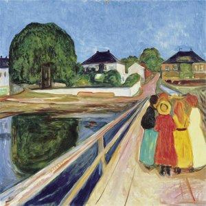 Detail of 'Girls on the Bridge' by Edvard Munch