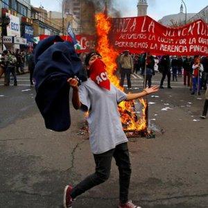 Anti-Gov't Protests  Held in Chile