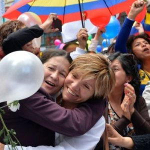 Colombians Celebrate End of Civil War