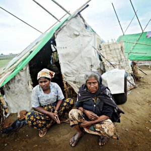 Fire Destroys 50 Shelters in Myanmar Camp