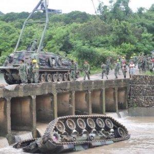 Taiwan Tank Falls Off Bridge, Kills 3