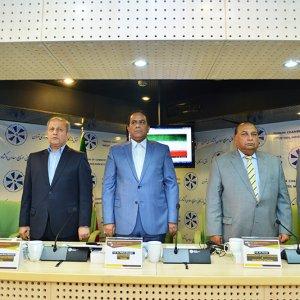 Pakistani envoys at TCCIMA's headquarters in Tehran on August 23.