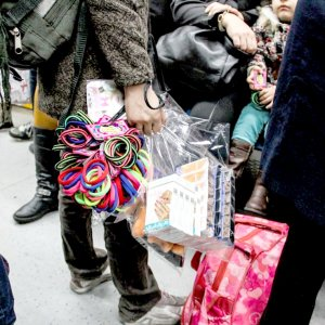 Tehran's subway network is packed with hawkers selling cheap goods.