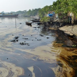 Oil Spill in Canadian River