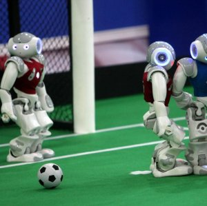 Aside from soccer, robots will vie for top position in other sports such as basketball, shooting and weight lifting.