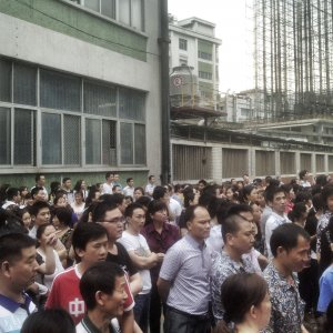 Chinese Workers Unpaid