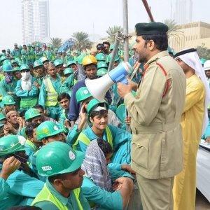 Dubai  Workers Unpaid  Since Dec.