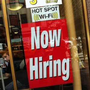 Steady rise in consumer spending has encouraged firms to add workers.