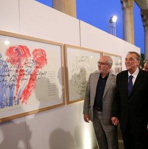 German Artist Uecker Presents Works to TMoCA