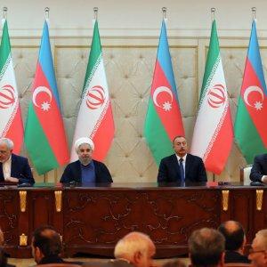Rouhani Pushes  INSTC in Baku