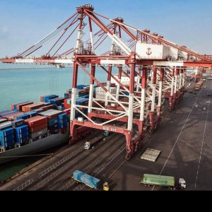 Shahid Rajaie, located in Hormozgan Province, is Iran's biggest container port.