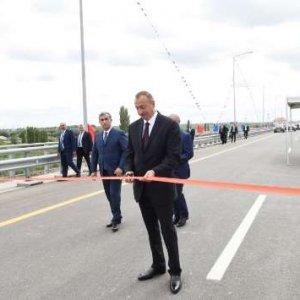 Aliyev Inaugurates New Roadway to  Iran