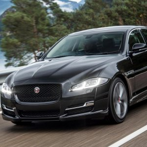 The British Jaguar XF is a midsize luxury sports sedan.