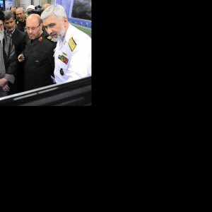 Military officials brief the Leader on the latest defense achievements in Tehran on Aug. 31.
