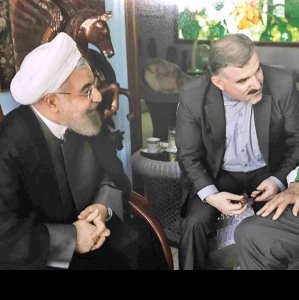 President Hassan Rouhani (L) meets former Cuban leader, Fidel Castro, in Havana on Sept. 19.