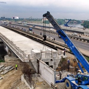 An infrastructure project in Lagos