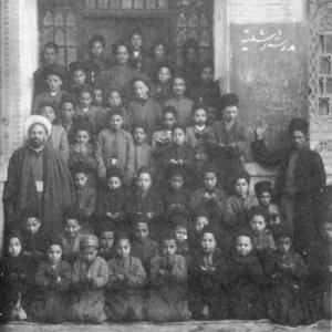 Students and teachers in Roshdieh School, Tabriz, East Azarbaijan