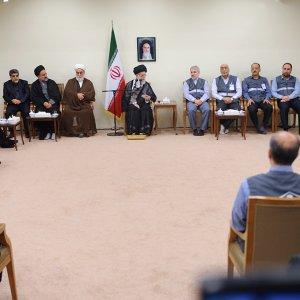 Ayatollah Seyyed Ali Khamenei addresses the staff of Statistical Center of Iran in Tehran on Sept. 13.