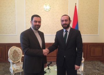 Envoy Meets Top Armenian Officials to Discuss Ties