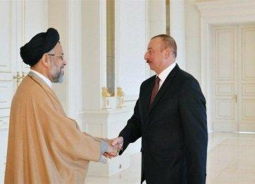 Intelligence Minister Meets Azeri President