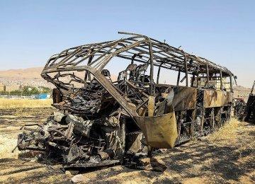 Scores Killed in Fiery Tanker-Bus Collision