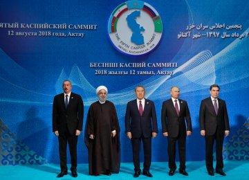 Five Presidents Sign  Caspian Sea Convention