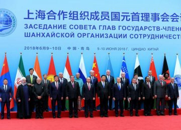 President Hassan Rouhani attended the SCO summit where he discussed bilateral relations with a number of his counterparts, including Chinese President Xi Jinping and Vladimir Putin of Russia.
