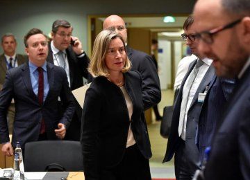 EU Foreign Ministers Discuss Iran in Brussels