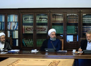 Heads of 3 Branches Discuss Ways to Counter Sanctions