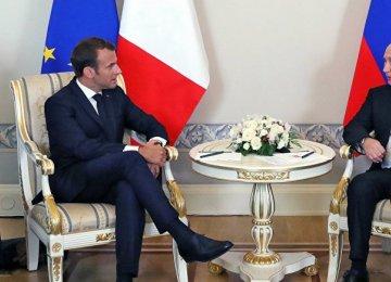 Macron, Putin to Discuss Iran and Syria