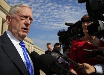 Mattis Denies Reports America Preparing  to Hit Iran's  Nuclear Facilities