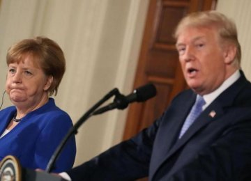 Trump, Merkel Make No Apparent Movement on Iran