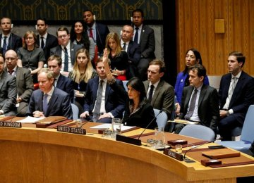 """US Ambassador to the UN Nikki Haley told a United Nations Security Council meeting on Monday that Washington """"will respond"""" to the alleged gas attack in Douma."""
