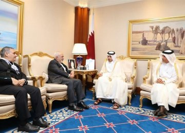Qatari Premier, Zarif Discuss Ties, Region