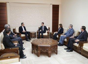 Senior Envoy Meets Assad to Discuss Geneva Talks on Syria