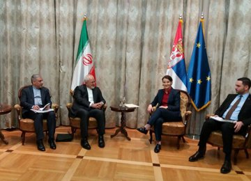 Zarif, Top Serbian Officials Discuss Ties