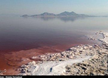Urmia Lake Water Down 42% YOY