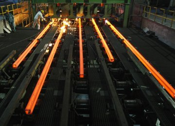 Iran Steel Output Grows 19% to 20.6m Tons